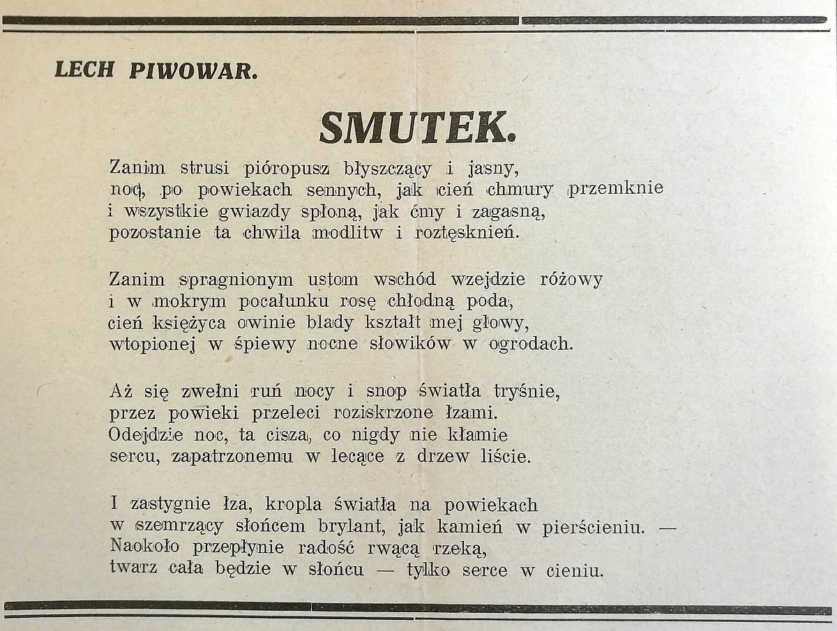 Lech Piwowar Historia